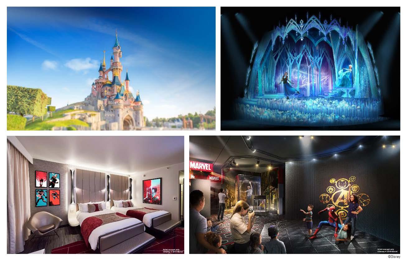 Spiderman y Elsa contarán con gran protagonismo en la nueva temporada de Disneyland Paris.